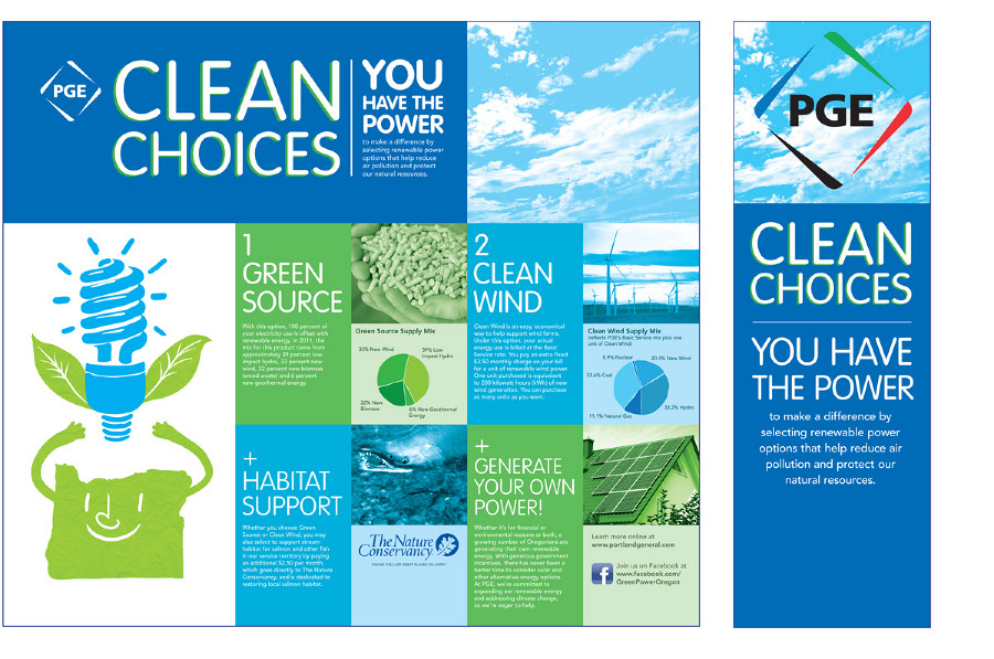 Pge clean choices display travis torgerson graphic design for Table design graphic