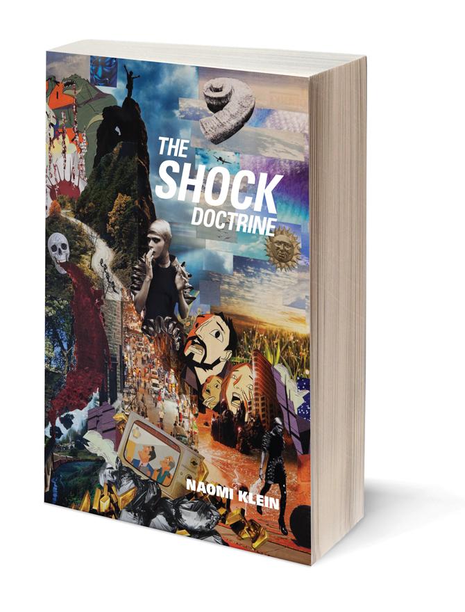 Book Cover Collage Poster : The shock doctrine book cover iveta luckanicova